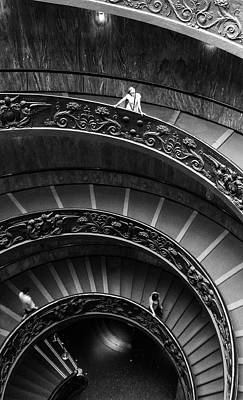 Art Print featuring the digital art Vatican Stairs by Julian Perry