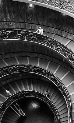 Digital Art - Vatican Stairs by Julian Perry