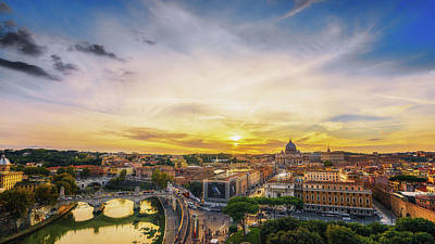 Photograph - Vatican Sunset by James Billings