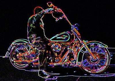 Vato Photograph - Vato N' Harley Aglow by Kimberley Joy Ferren