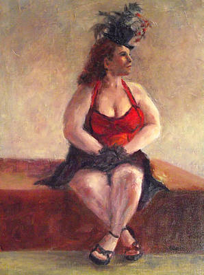 Painting - Vaudeville Lady by Jill Musser