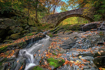 Photograph - Vaughan Brook And Arch Bridge by Rick Berk