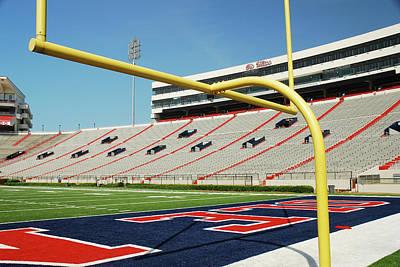 Photograph - vaught hemingway stadium, University of Mississippi by James Kirkikis