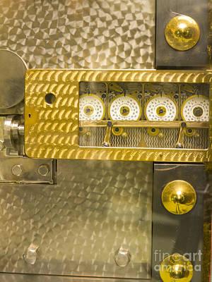 Vault Door Timing Device Art Print by Adam Crowley