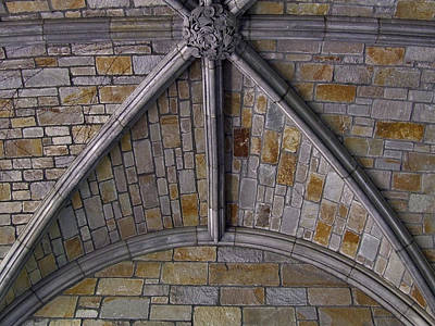 Vaulted Stone Ceiling Art Print