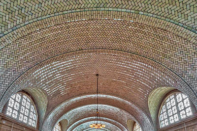 Photograph - Vaulted Tile Ceiling Ellis Island Nyc by Susan Candelario