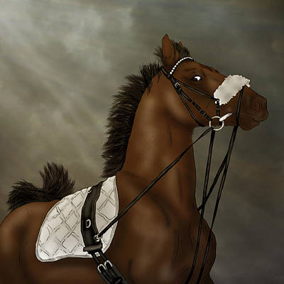 Digital Art - Vaulting Horse by Davandra Cribbie