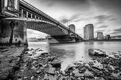 Photograph - Vauxhall Bridge Mono by Matt Malloy