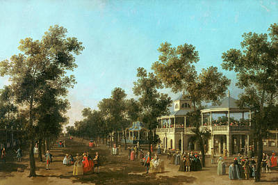 Canal Walk Painting - Vauxhall Gardens The Grand Walk by Canaletto