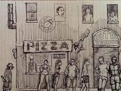 Venice Beach Drawing - VBS by John Marlon