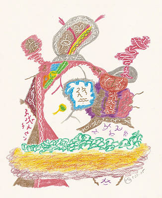 Drawing - Vedauwoo Shaman by Mark David Gerson