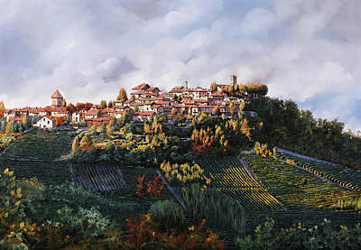 Fog Painting - veduta di Verduno by Guido Borelli
