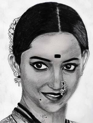 Veena Drawing - Veena Jamkar by Bobby Dar