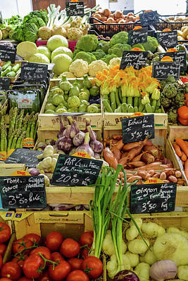 Photograph - Veg At Marche Provencal by Allen Sheffield
