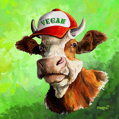 Painting - Vegan by Anthony Mwangi