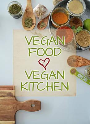 Photograph - Vegan Food Vegan Kitchen Spices by Nadine Primeau