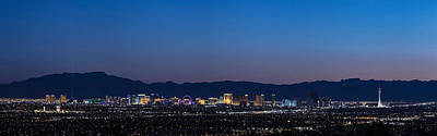 Photograph - Vegas At Blue Hour  by John McGraw