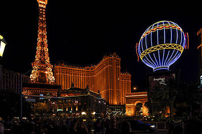 Photograph - Vegas At Night by Willie Harper