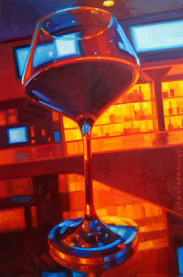 Wine Reflection Art Painting - Vegas Baby by Penelope Moore