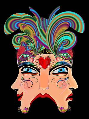 Doubloon Digital Art - Vegas Casino Mask by Bill Campitelle