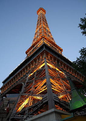 Photograph - Vegas Eiffel At Night by David Nicholls
