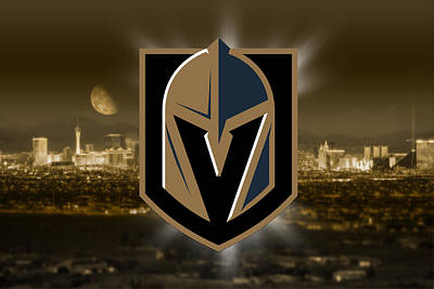 Digital Art - Vegas Golden Knights Artwork  by Nicholas Legault