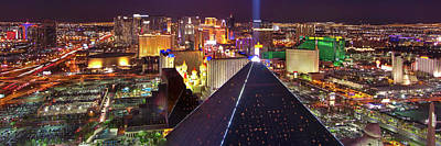 Vegas Lights Art Print by Mikes Nature