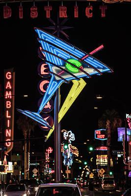 Photograph - Vegas Martini Glass Sign by John McGraw
