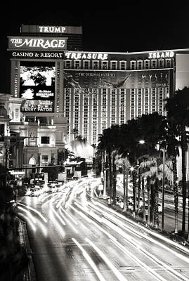 Photograph - Vegas Nights by Ricky Barnard