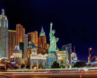 Photograph - Vegas Ny At Night by Joe Myeress
