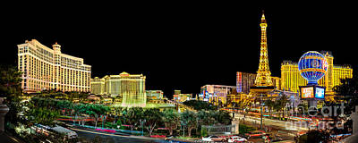 Paris Skyline Photograph - Vegas Splendor  by Az Jackson