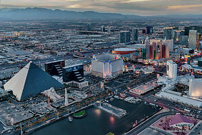 Photograph - Vegas Strip Aerial by Susan Candelario