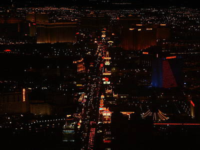 Vegas Strip Print by D R TeesT