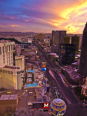 Photograph - Vegas Sunset by Ches Black