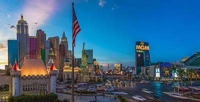 Photograph - Vegas Sunset Ny Ny Casino by John McGraw