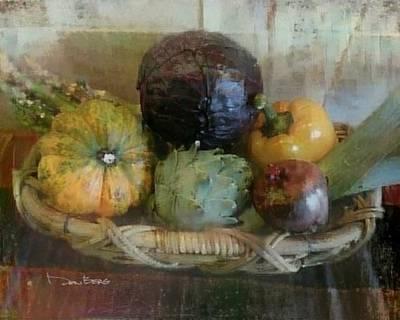 Artichoke Digital Art - Today's Kitchen - Vegetable Basket 2 by Don Berg