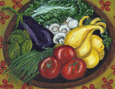 Romaine Painting - Vegetable Bowl by Jill Hershock