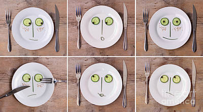 Cucumber Photograph - Vegetable Faces by Nailia Schwarz