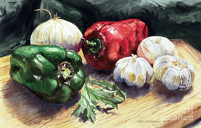 Painting - Vegetable Golly Wow by Joey Agbayani
