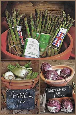Photograph - Vegetable Kitchen Collage by Dorothy Berry-Lound