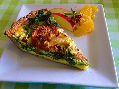 Photograph - Vegetable Quiche by Polly Castor