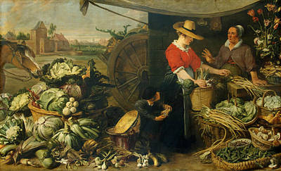 Painting - Vegetable Stall by Frans Snyders