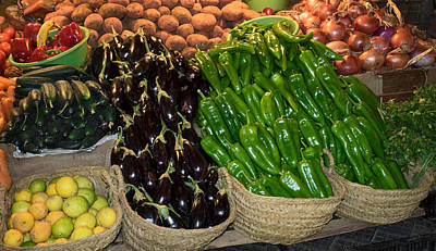 Fes Photograph - Vegetables For Sale In The Souk, Fes by Panoramic Images
