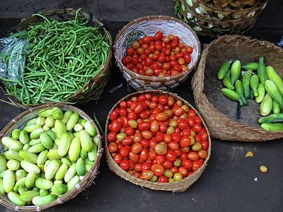 Exploramum Photograph - Vegetables In A Basket by Exploramum Exploramum