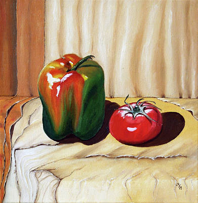 Paprika Painting - Vegetables by Maria Woithofer