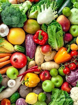 Cauliflower Digital Art - Vegetables  by Opulent Creations