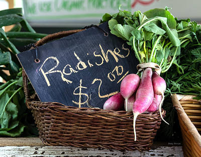 Farmstand Photograph - Vegetables Radishes by Betty Denise