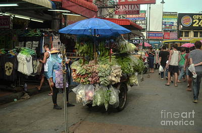 Photograph - Vegetables Street Seller by Michelle Meenawong