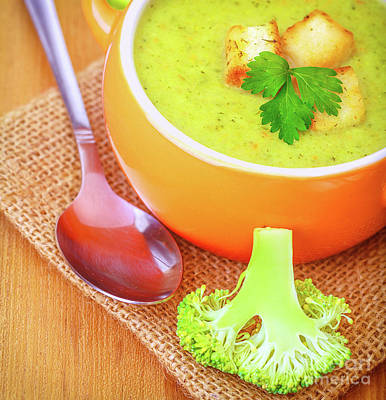 Photograph - Vegetarian Cream Soup by Anna Om