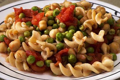 Vegetarian Pasta Plate Art Print by Donald Erickson